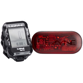 Lezyne Mini GPS Fahrradcomputer mit Herzfrequenzmessgerät schwarz